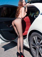 网红车美人艾小青黑丝美腿美胸迷人