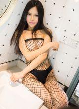 全身黑网丝袜诱惑极致的清新女神张美莹