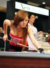 韩国性感美女场外桌球大比拼