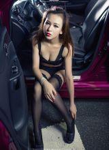 黑丝气质红唇的妩媚嫩模极具诱惑迷人写真