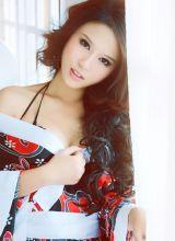 日本美女的和服性感照