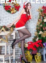 性感美女Winnie圣诞迷人美腿诱惑写真
