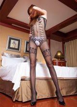 性感美女蕾丝透明丝袜美腿诱惑