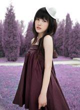 薰衣草紫色梦幻般的清纯可爱美眉杨子姗