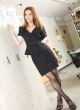 办公室女秘书性感制服丝袜写真