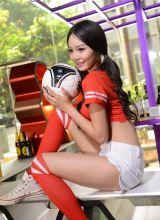 清纯美女世界杯足球宝贝写真