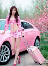 粉系美女超短裙性感美腿迷人写真