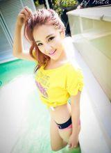 性感美女模特泳池高清唯美写真